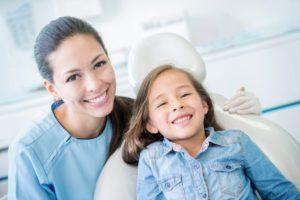a girl preparing for her pediatric dental care