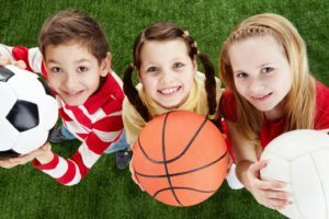 children on active sports