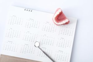 dental items and calendar