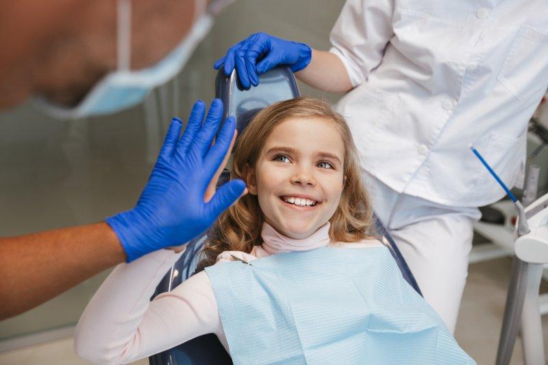 Child at children's dentist in Midland